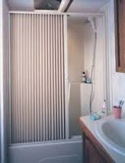 pleated-shower-door-open